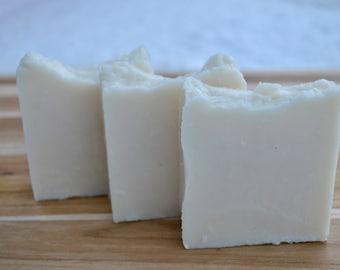 Handmade Pure Goat Milk and Honey Soap, no scent