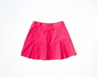 Le Coq Sportif Barbie Pink Tennis Skirt 90s Pleated Mini Skirt 1990s Health Goth Sporty Athletic Soft Grunge Kawaii Athleisure Sport Medium