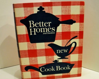 Better Homes and Gardens 1962 Cookbook, Vintage Like New Cook, Better Homes and Gardens New Cook Book, Red & White Hard Cover 5 Ring Binder