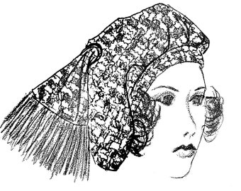Draped Turban Hat Vintage Sewing Pattern 1970's PDF Instant Reproduction Download Average Head Size 22 Inches Adjustable