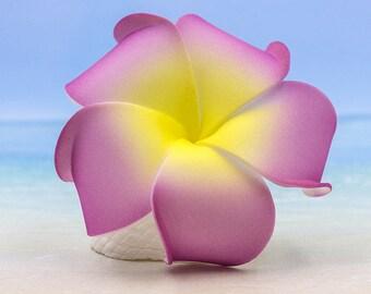 Flower Hair Clip,  Plumeria, Hawaii Hair Clip, Floral Hair Clips, Purple Flower Hair Clip