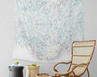 Tree Glass- Tapestry- Wall Tapestry- Wall Hanging- Modern Wall Tapestry- Nature- Bohemian- Wanderlust- Home Decor- Boho Decor- Dorm Room