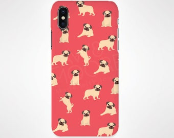 Pug Dog Phone Case for iPhone and Samsung, iPhone X, 8, 7, 6, 6s, Plus, 5s, 5c, Samsung, S8