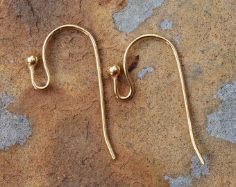 6 Gold Earwires -  LOW SHIPPING