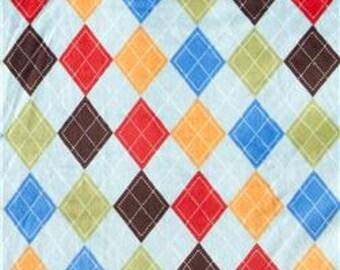 10 Inch Collegiate Argyle Minky Cloth Pad Regular Menstrual Cloth Feminine Hygiene