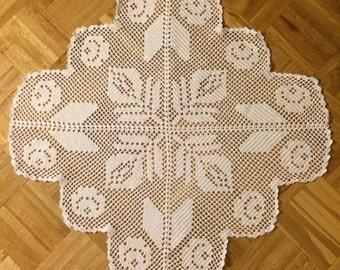 Crochet Doily 28 inches