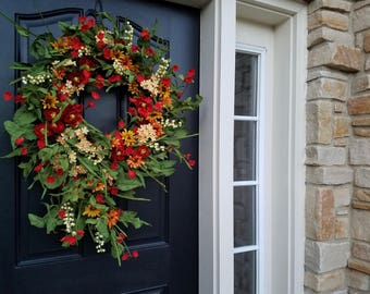 SPRING Summer Wreaths, Daisy Wreath, Spring Front Door Wreaths, Front Porch Wreaths, Modern Wreaths, Easy Wreaths, Decorative Wreaths