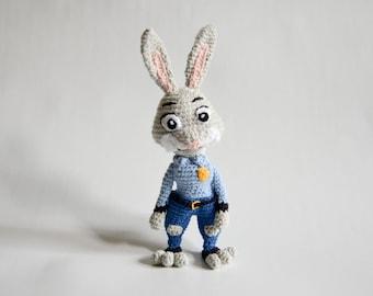 Crochet PATTERN - Judy the bunny by Krawka