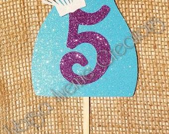 Mermaid Tail Cake Topper - Mermaid Theme Birthday Decorations - Mermaid Tail Party - Mermaid Cake Topper - 5 Cake Topper