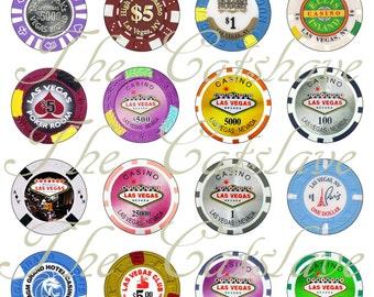 Poker Chip Magnets Pins Gambling  Gaming Party Favors Wedding Favors
