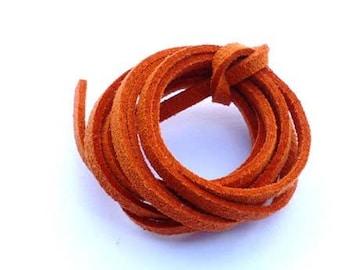 Cord suede Orange Fonçé