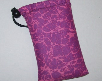 """Pipe Pouch, Pink Purple Pouch, Psychedelic, Hippie Gift, Stoner Gift, Glass Pipes, Pipe Case, Pipe Bag, 420, Smoke Accessory - 5"""" DRAWSTRING"""