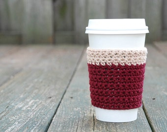 Gifts For Mom   Crochet Coffee Sleeve   Reusable Coffee Sleeve   Best  Friend Gift