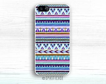 Blue Aztec iPhone 6 Case, iPhone 5 Case, iPhone 5S Case, Silicone Rubber iPhone Case, Geometric Aztec iPhone 6S Case, iPhone 5C, iPhone 4S