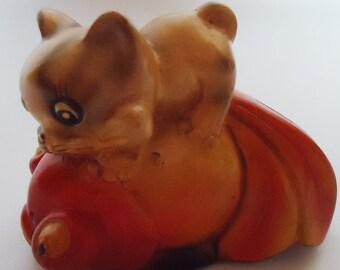 SUper japanese Ceramic Pencil sharpener-Figurine.Rare.50s