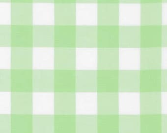 1 Inch Plaid - Carolina Gingham in Mint Green by Robert Kaufman - 1/2 yard increments