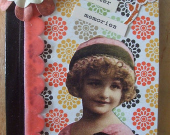 Vintage Inspired Girl Memories Altered Composition Book