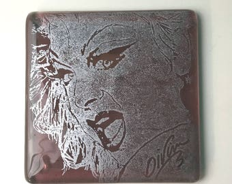 Divine Fused Glass Coaster, Actor Coasters, Icon Coasters