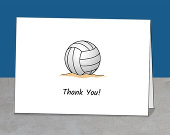 Thank You Volleyball, Coach, Mentor, Team Gift, Coach Thank You, Volleyball Card, Coach Card, Volleyball Party, Simple Card, Greeting Card