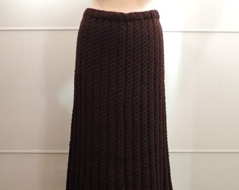 Hand knit wool long skirt.