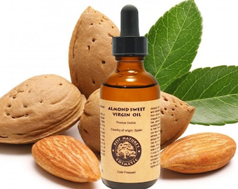 Reduce dark circles and under eyes bags with Virgin Almond oil (organic, cold pressed, unrefined)