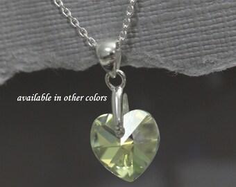 Flower Girl Heart Necklace, Flower Girl Jewelry, Heart Necklace, Sterling Silver Necklace, Flower Girl Gift, Heart Necklace, Gift for Her