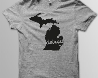 Custom MICHIGAN Hometown American Apparel Tri blend Tshirt