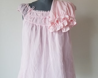 Vintage 1950's Pink Babydoll Set with Bloomers