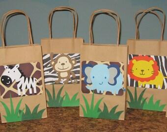 Safari Gift Bags - Set of 12