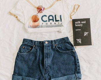 Route 66 Mom Jeans Shorts | high waisted shorts | high waist shorts | denim shorts | jean shorts | festival clothing | levis