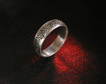 Trinity knot ring, sterling silver band, Celtic jewelry, Irish jewelry, Irish knot, wedding band, trinity knot jewelry, Celtic knot band