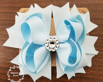 Stacked boutique bow (CHOOSE YOUR COLOR)