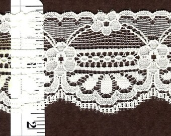 1.5 inch Ivory lace trim 22yds    (4268)