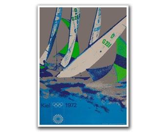 Retro Poster Travel Art Olympics Sailing Decor Print (H41)