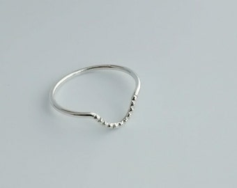 Curved Stacking Ring, size 6.5