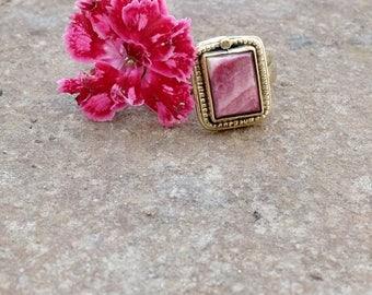 """Ring """"espondilo' - El purpura color coral"""