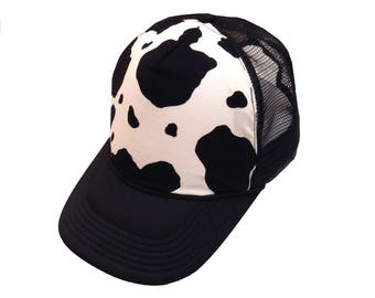 Black Cow Trucker Hat-Youth Size
