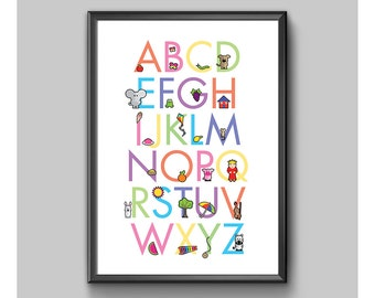 Digital Poster – Children's Alphabet No. 2