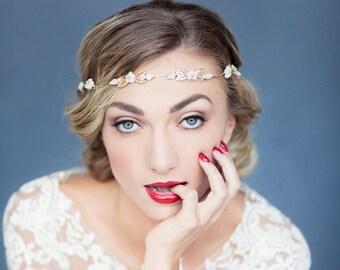Bridal headband / wedding forehead band / bridal hairvine / bridal halo / wedding headdress / CAPRICE