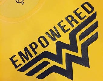 Empowered slogan tee