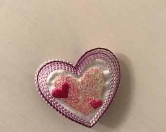 Heart hair barrette