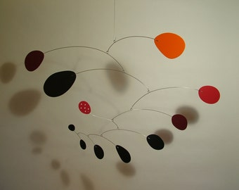 Art Mobile Lustron Modern Hanging Art Sculpture Handmade by Julie Frith Medium Calder Styled