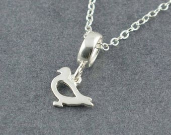 Small Bird Charm Necklace