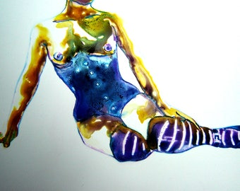 Coin Operated Girl: Study 9 - Watercolor Painting