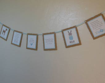 Boy Baby Shower Garland - Boy Nursery Room Garland