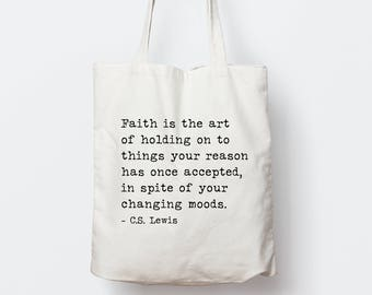 Personalized Inspirational Quote Tote Bag, Custom song lyrics Tote Bag, Personalized Bible verse Tote Bag, Typography tote bag, gift