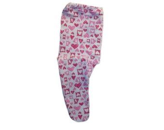Baby Girls' Dark and Light Pink Hearts Tights. 6 Sizes Preemie, Newborn, Toddlers up to 24 Months. Perfect for Valentine's Day or Any Day!
