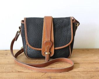 DOONEY & BOURKE Black AWL Small Equestrian Saddle Bag / Dooney and Bourke Binocular Crossbody Messenger Handbag 062018