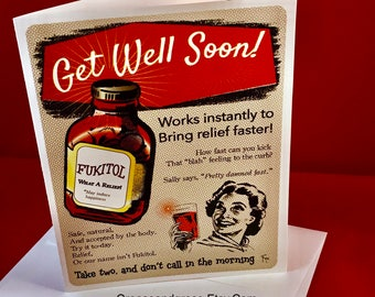 FUKITOL! | Fuck It - Sarcastic - Funny - Joke - Get Well Card - Divorce Card - 1950s Vintage Inspired Blank Card - Digital Download or Print