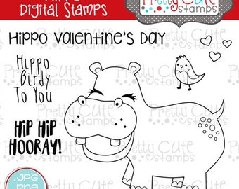 Hippo DIGITAL Stamp Set